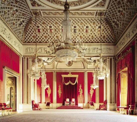 Букингемский дворец - тронный зал